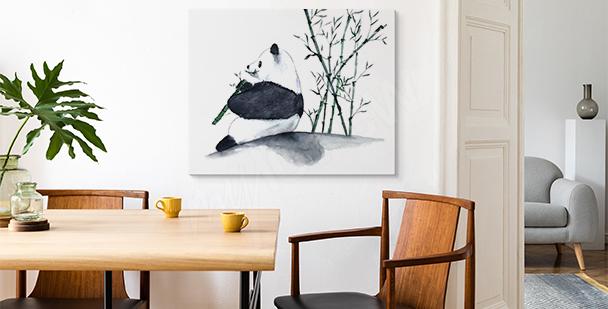 Image minimaliste avec un panda