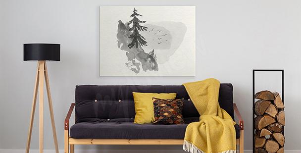 Image minimaliste avec une forêt