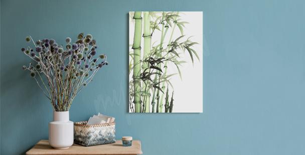 Image minimaliste bambou