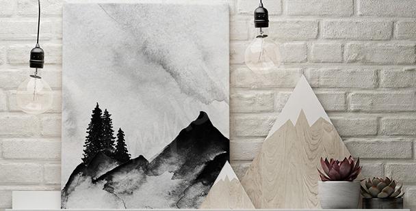Image minimaliste montagnes