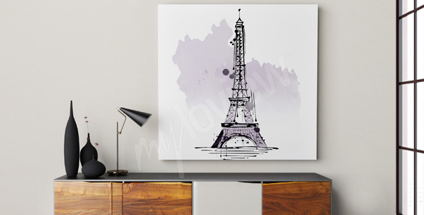 Image minimaliste Tour Eiffel