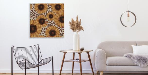 Image tournesols style rustique