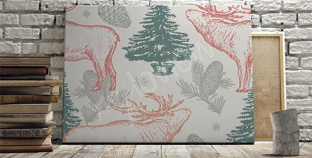 Image motif de forêt scandinave