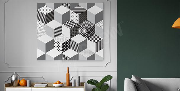 Image motif géométrique 3D