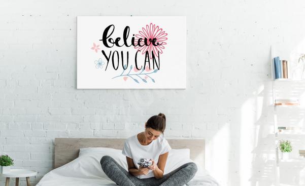 Image motivation pour chambre à coucher