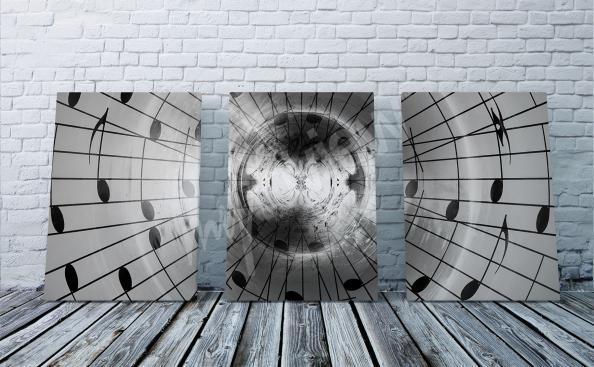 Image musique triptyque
