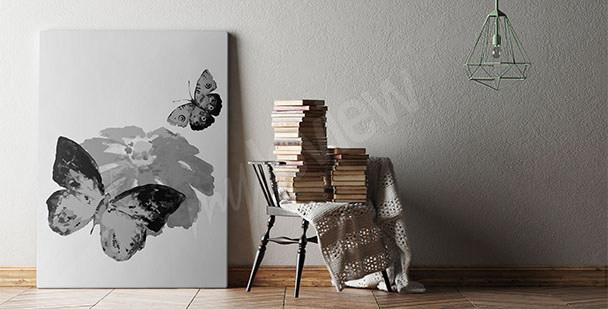 Image noir et blanc papillon