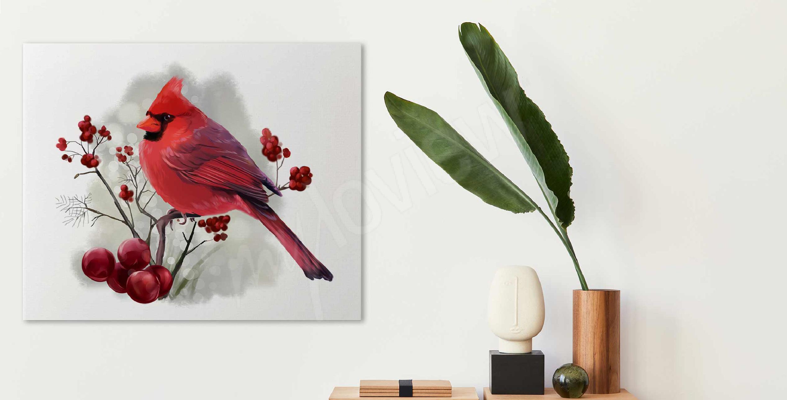 Image oiseau rouge