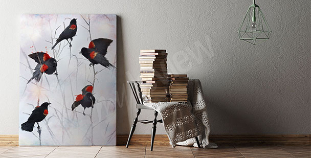 Image oiseaux pour un salon