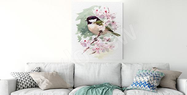 Image oiseaux sur une branche