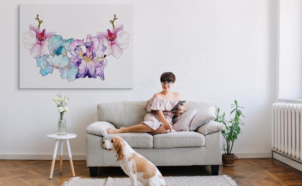 Image orchidée en couleur