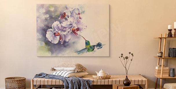 Image orchidée pastel