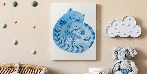 Image ornement avec un chat