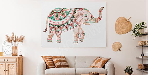 Image ornement et éléphant