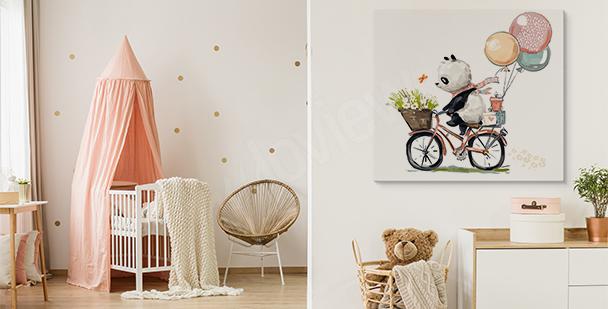 Image panda à vélo