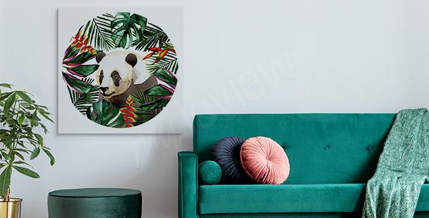 Image panda et feuilles
