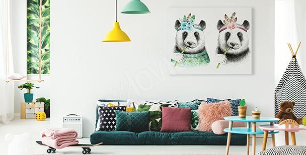 Image panda style boho
