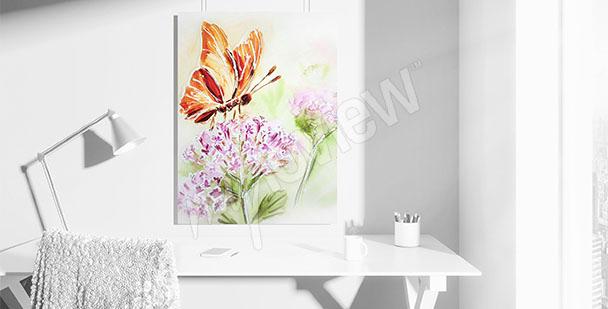 Image papillon sur fleur