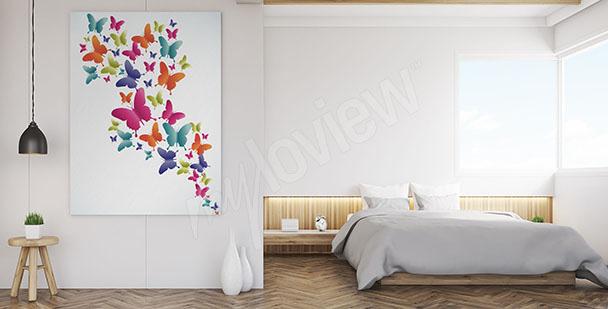 Image papillons colorés
