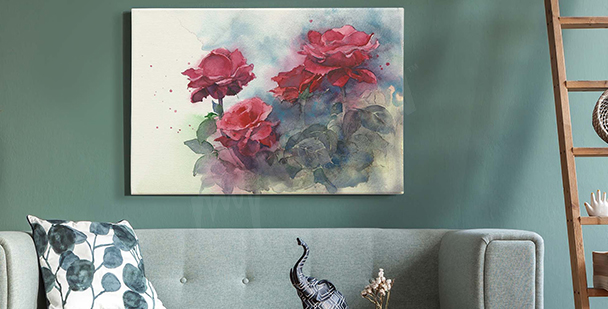 Image pastel avec des roses
