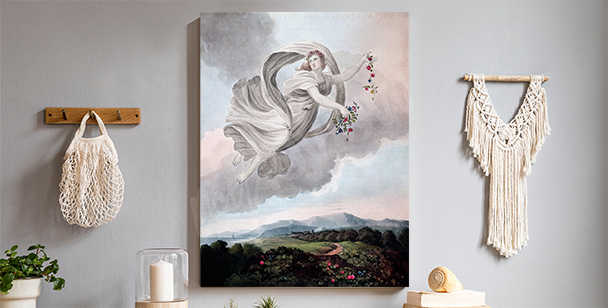 Image pastel avec un angel