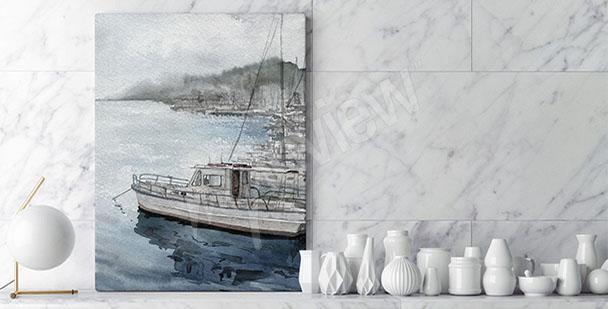 Image paysage avec une barque