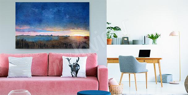 Image paysage coloré