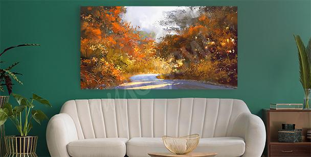 Image paysage d'automne retro
