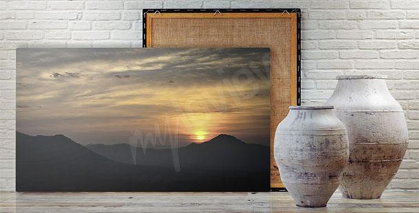 Image paysage de soleil couchant