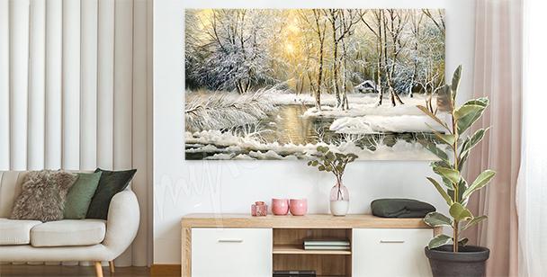 Image paysage hivernal