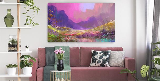 Image montagnes aquarelle