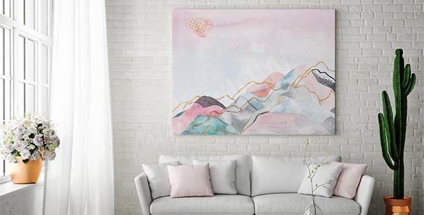 Image paysage dans un salon