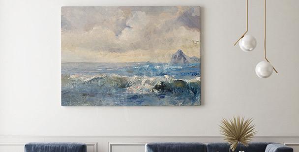 Image paysage style peinture à l'huile