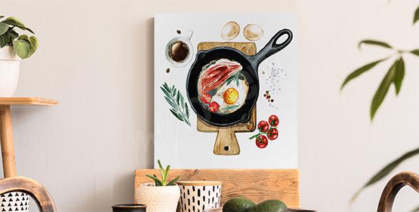 Image petit-déjeuner dans une poêle