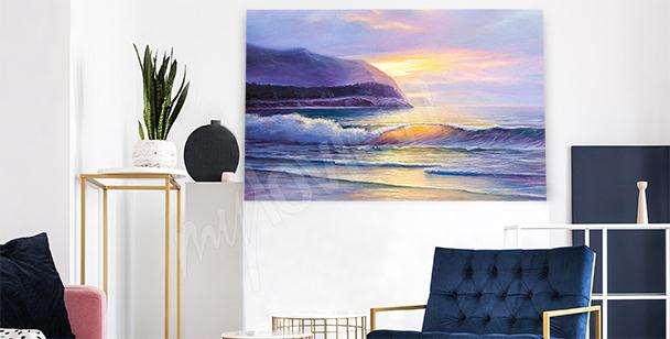Image plage au coucher de soleil