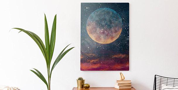 Image plančtes et étoiles