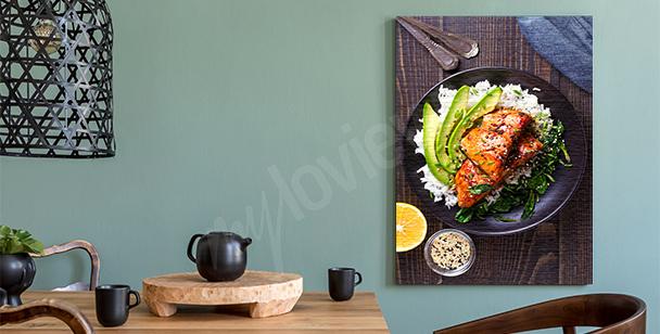 Image plats cuisinés dans une assiette