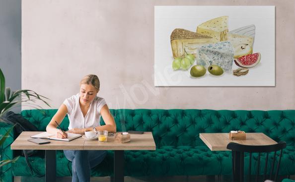 Image plats cuisinés et fromages
