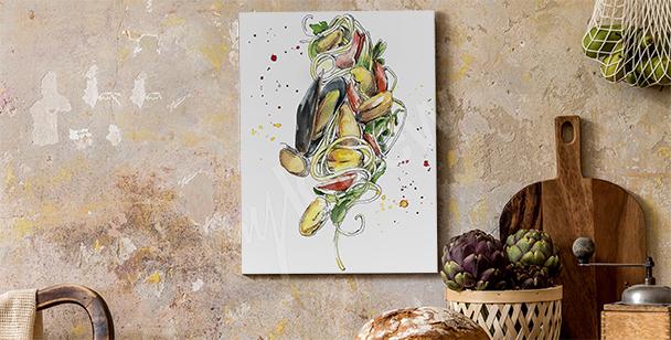 Image plats cuisinés et moules
