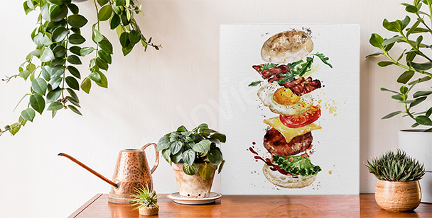 Image plats  et burger
