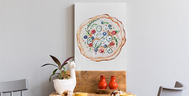 Image plats et pizza