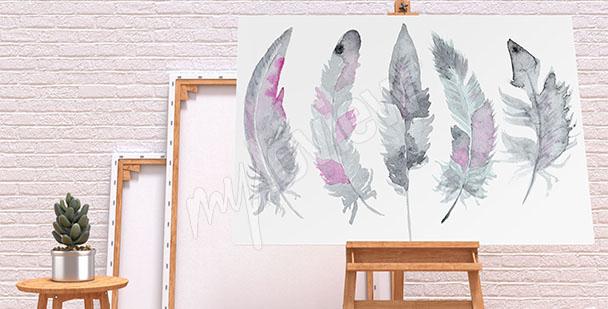 Image plumes – aquarelle