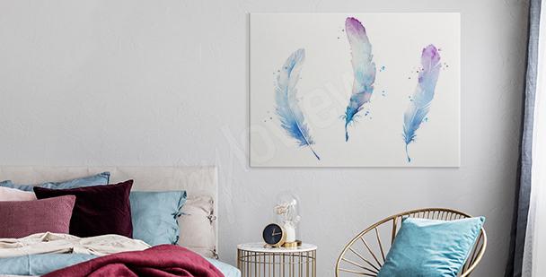Image plumes pastel