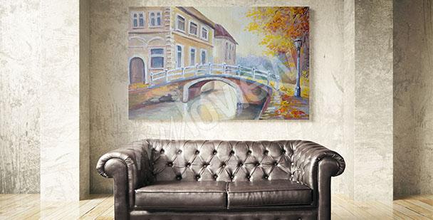 Image pont en automne