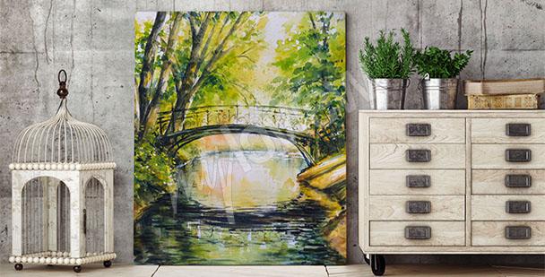 Image pont entouré d'arbres