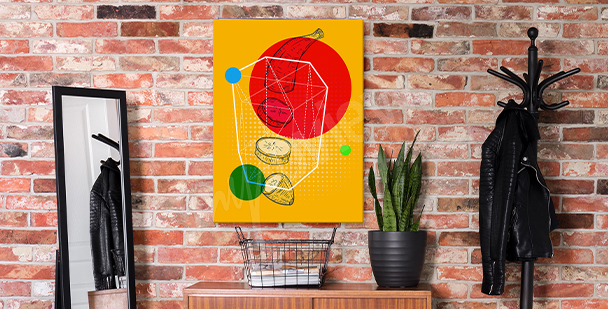 Image pop art avec des fruits