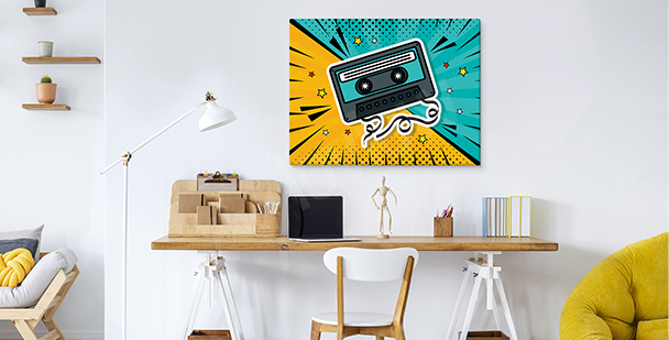Image pop art cassette