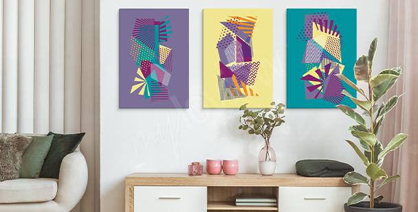 Image pop art motifs géométriques