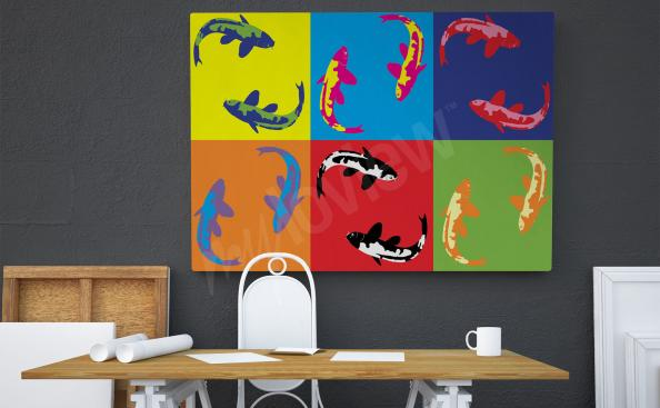 Image pop art – poissons