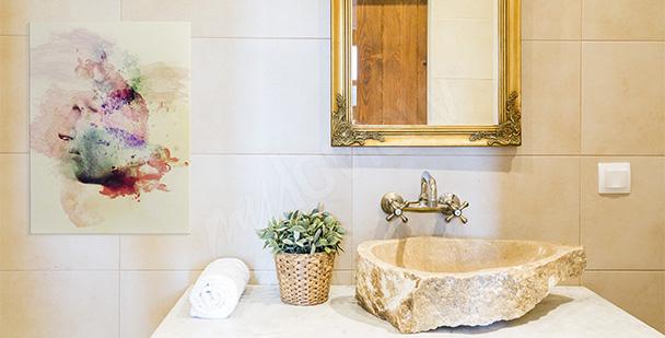 Image pour salle de bains palmier
